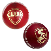 SG Club Leather Cricket Ball Red - Pack of 6