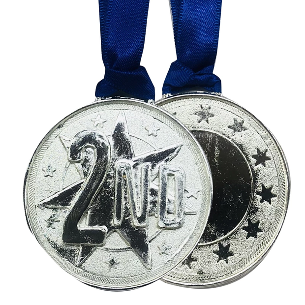 Silver Medal 2.5 Inch - 10 pcs