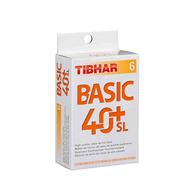 Tibhar Basic 40+ SL Table Tennis Balls (Set of 6)