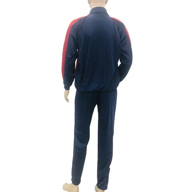 Super Poly Fabric Tracksuit Navy Blue