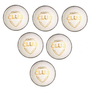 SG Club Leather Cricket Ball White - Pack of 6