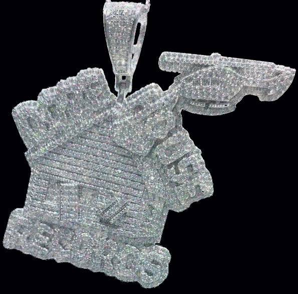 Iced Out Dope House Pendant