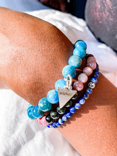 Clarity, Protection, and Wisdom bracelet stack