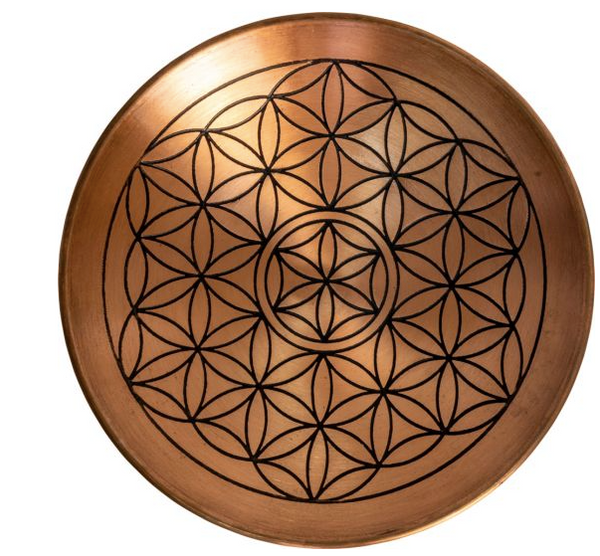 Copper Flower of Life Smudge Plate