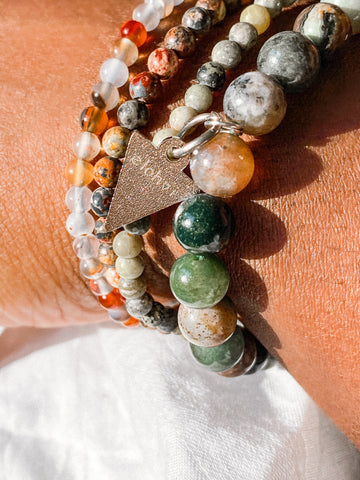 Down to Earth bracelet stack