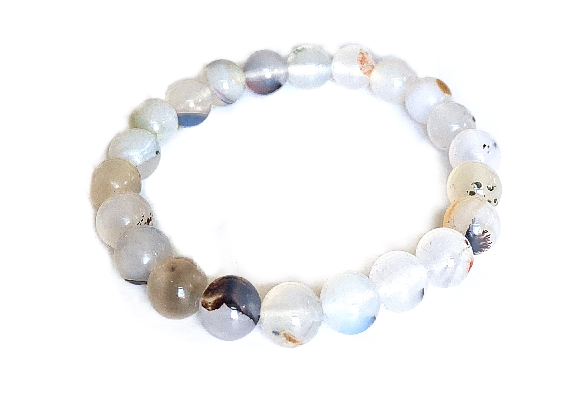 Dendritic Agate Bracelet 8mm