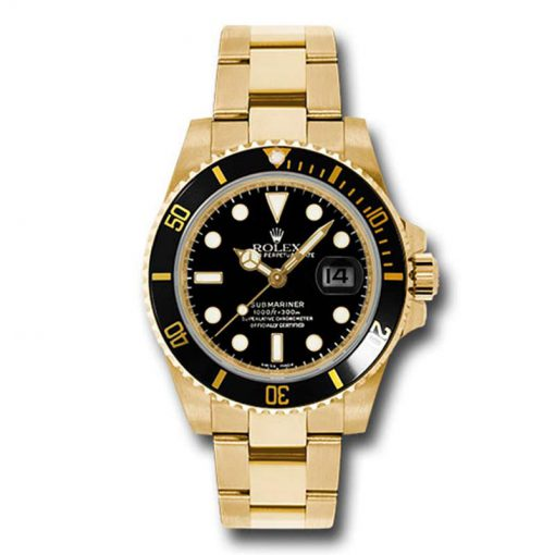Oyster Perpetual Submariner Yellow Gold & Ceramic Men's Watch
