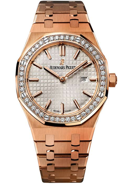 Royal Oak Quartz Rose Gold Ladies Watch