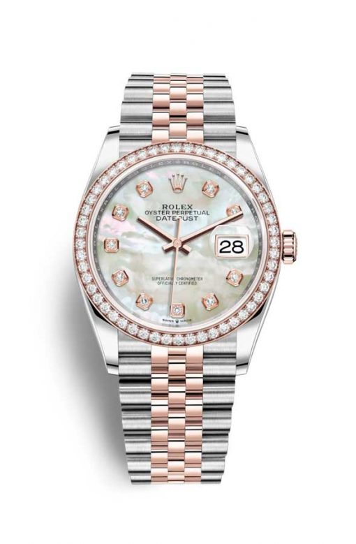 Oyster Perpetual Datejust 36 Stainless Steel & Everose Gold Unisex Watch