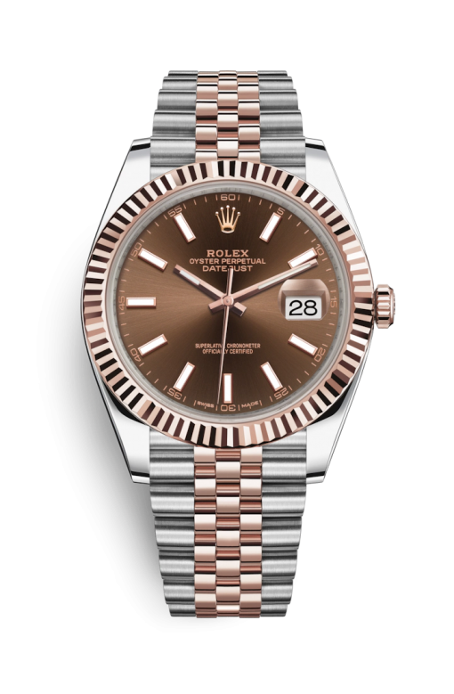 Oyster Perpetual Datejust 41 Stainless Steel & Rose Gold Men's Watch