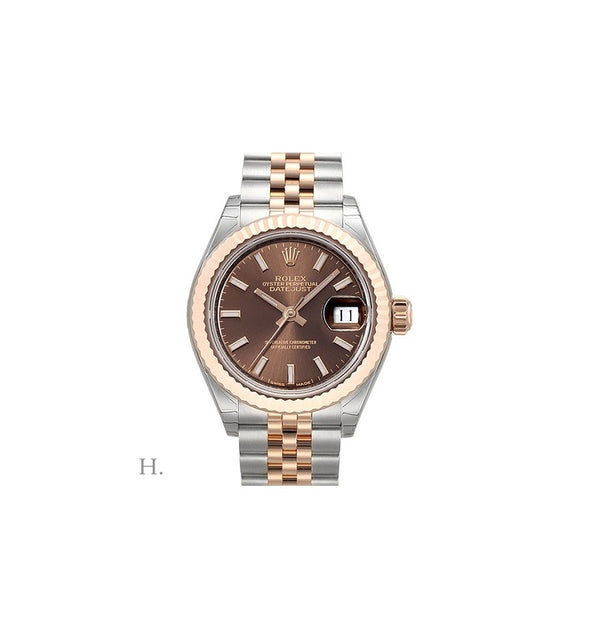 LADY-DATEJUST 28mm Steel / Rose Gold