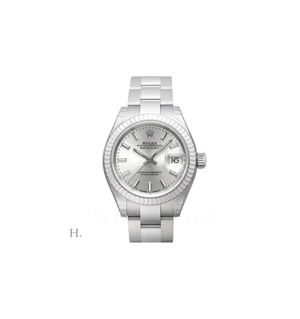 LADY-DATEJUST 28mm Steel / White Gold