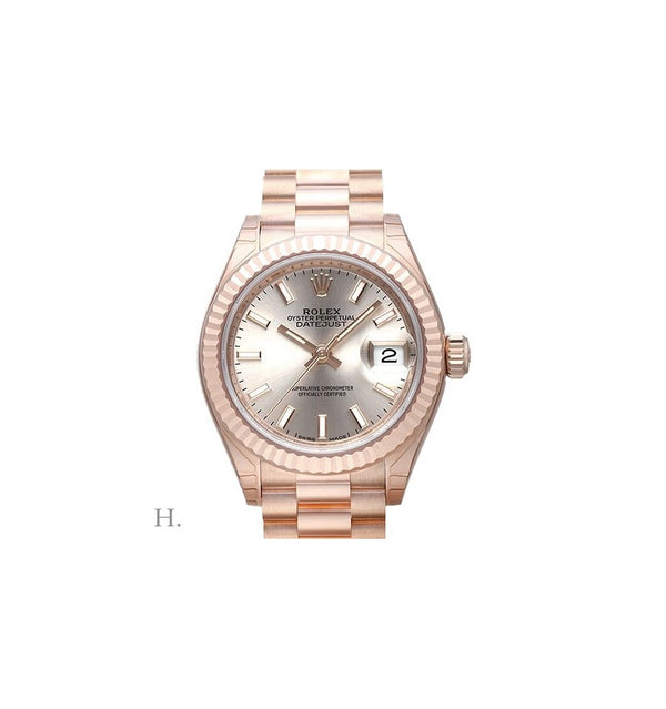 LADY-DATEJUST 28mm Rose Gold