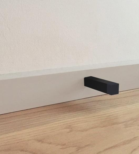 Meir Square Door Stop - Matte Black (SKU: MDS01) Image - 7