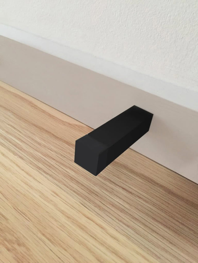 Meir Square Door Stop - Matte Black (SKU: MDS01) Image - 8