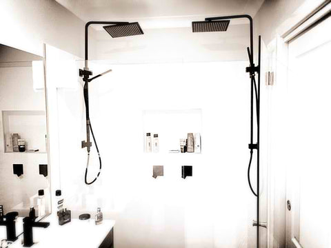 King 2-in-1 Matte Black Shower Rail (SKU: MZ0202/03)