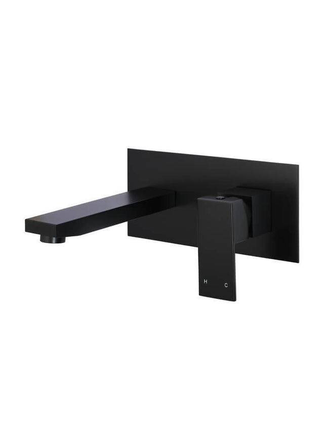 Meir Square Wall Basin Mixer and Spout - Matte Black (SKU: MC01) Image - 1