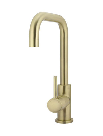Round Kitchen Mixer Tap Curved - Tiger Bronze Gold