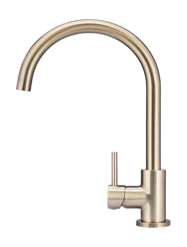 Round Kitchen Mixer Tap - Champagne