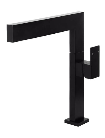 Square Kitchen Mixer Tap - Matte Black