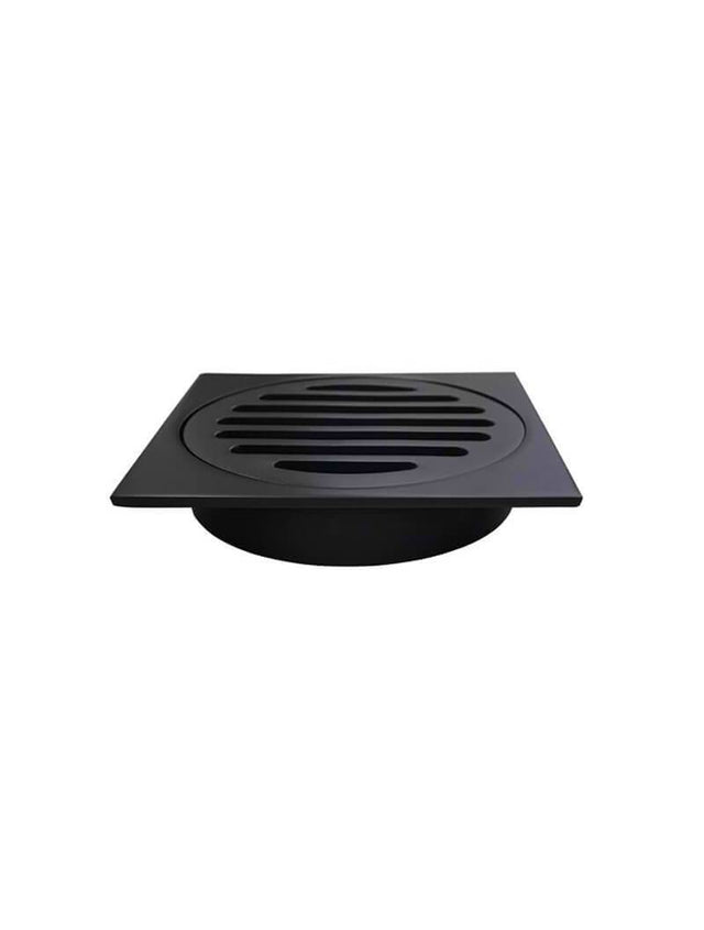 Meir Square Floor Grate Shower Drain 100mm outlet - Matte Black (SKU: MP06-100) Image - 1