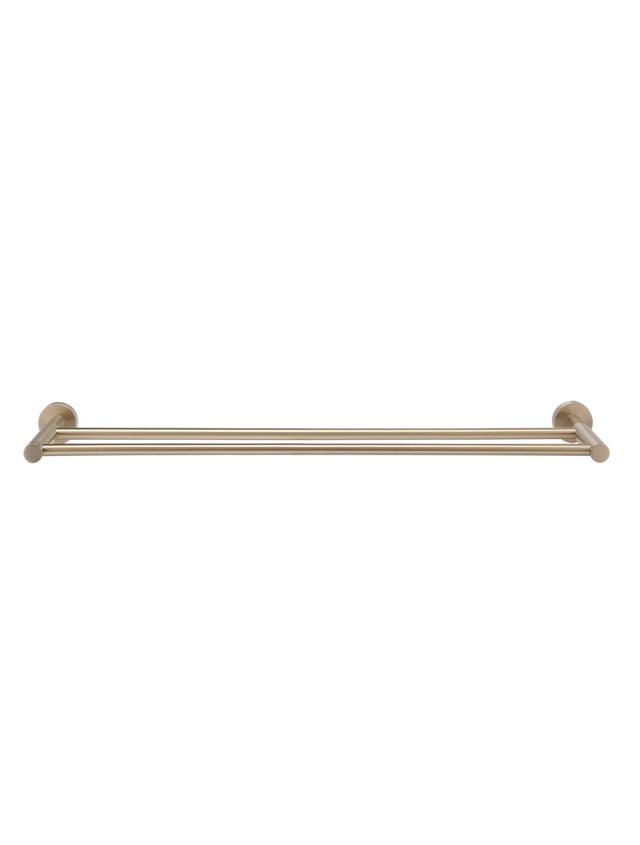Meir Round Double Towel Rail 600mm - Champagne (SKU: MR01-R-CH) Image - 2