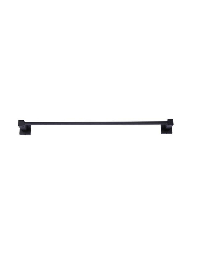Meir Square Single Towel Rail 600mm - Matte Black (SKU: MR01-S60) Image - 2