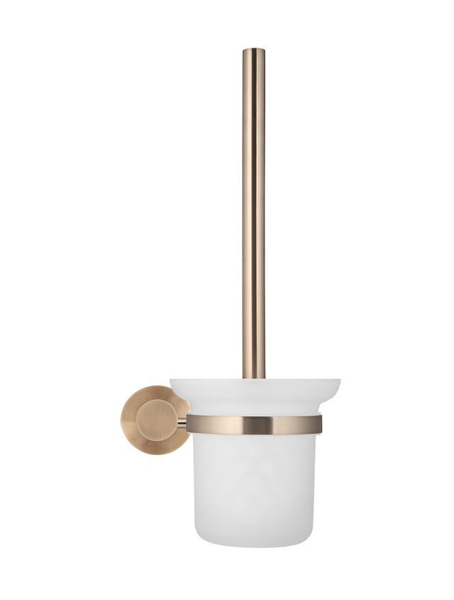 Meir Round Toilet Brush & Holder - Champagne (SKU: MTO01-R-CH) Image - 2