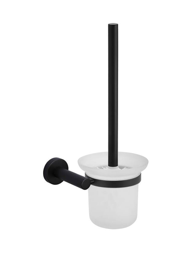 Meir Round Toilet Brush & Holder - Matte Black (SKU: MTO01-R) Image - 1