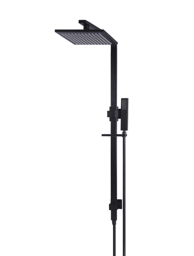Meir Square Combination Shower Rail 200mm Shower Rose - Matte Black (SKU: MZ0202) Image - 1