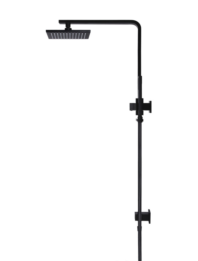 Meir Square Combination Shower Rail 200mm Shower Rose - Matte Black (SKU: MZ0202) Image - 3