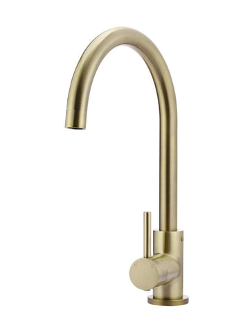 Round Kitchen Mixer Tap - Tiger Bronze Gold