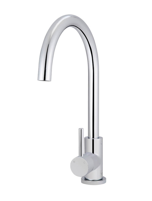 Meir Round Kitchen Mixer Tap - Polished Chrome (SKU: MK03-C) Image - 1