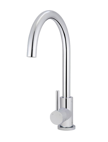 Round Kitchen Mixer Tap - Polished Chrome