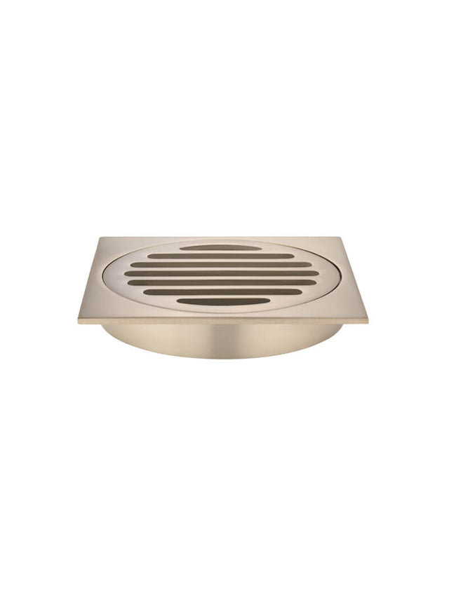 Meir Square Floor Grate Shower Drain 100mm outlet - Champagne (SKU: MP06-100-CH) Image - 1