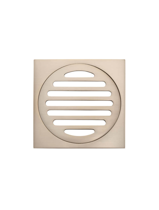 Meir Square Floor Grate Shower Drain 100mm outlet - Champagne (SKU: MP06-100-CH) Image - 2