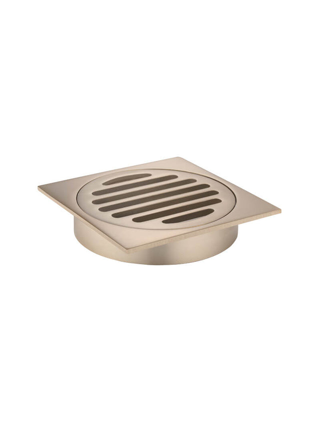 Meir Square Floor Grate Shower Drain 100mm outlet - Champagne (SKU: MP06-100-CH) Image - 3