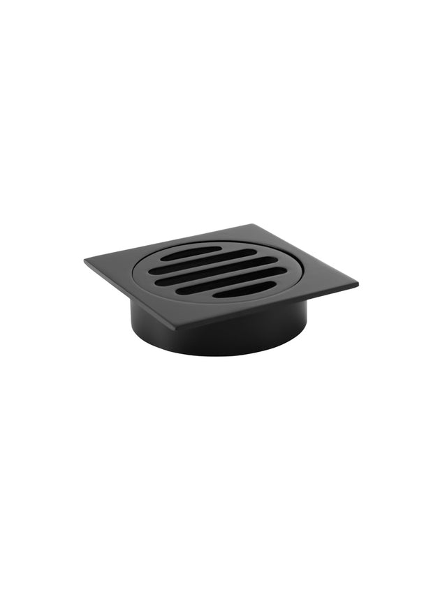 Meir Square Floor Grate Shower Drain 80mm outlet - Matte Black (SKU: MP06-80) Image - 3