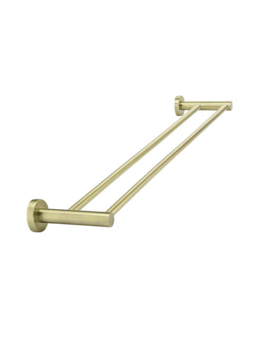 Round Double Towel Rail 600mm - Tiger Bronze Gold