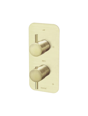 Two-Way Thermostatic Mixer Valve with Diverter - Tiger Bronze