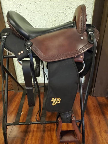 "17"" Imus 4-Beat Elite Gaited Saddle Wide Tree In Stock-Phoenix Rising Saddles Gaited Horse Tack"