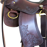 "16"" Imus 4-Beat Gaited Saddle Standard Tree with Custom Tooling-Phoenix Rising Saddles Gaited Horse Tack"