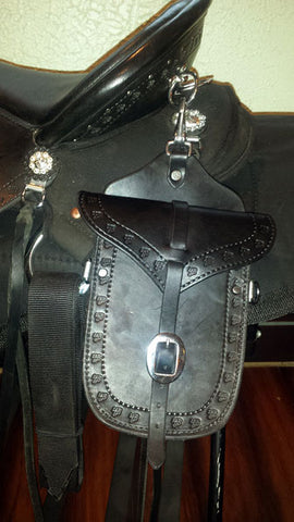 Leather Saddle Pockets-Phoenix Rising Saddles Gaited Horse Tack