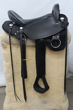 "18"" Imus 4-Beat Elite Gaited Saddle Wide Tree In Stock-Phoenix Rising Saddles Gaited Horse Tack"
