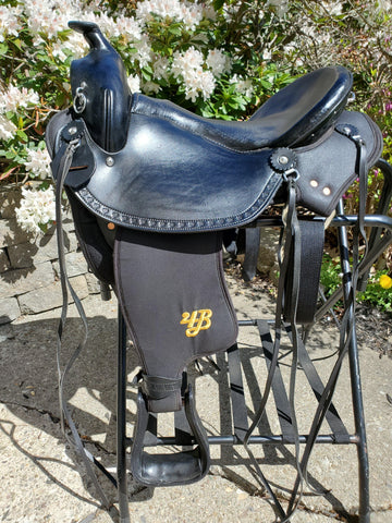 "16"" Imus 4-Beat Elite Gaited Saddle Standard Tree (In Stock)-Phoenix Rising Saddles Gaited Horse Tack"