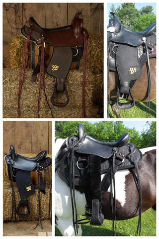Custom Imus 4-Beat Elite Lightweight Gaited Saddle-Phoenix Rising Saddles Gaited Horse Tack