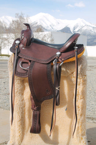 "17"" Imus 4-Beat Gaited Saddle Standard Tree (In Stock)-Phoenix Rising Saddles Gaited Horse Tack"