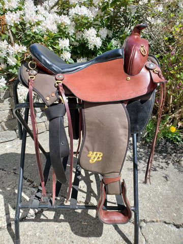 "16"" Imus 4-Beat Elite Gaited Saddle Wide Tree (In Stock)-Phoenix Rising Saddles Gaited Horse Tack"