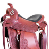 "16"" Imus 4-Beat Gaited Saddle Standard Tree New Sunflower Tooling Design!-Phoenix Rising Saddles Gaited Horse Tack"