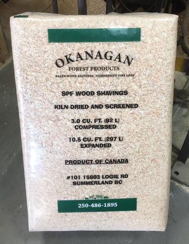Okanagan Forest Products SPF Wood Shavings